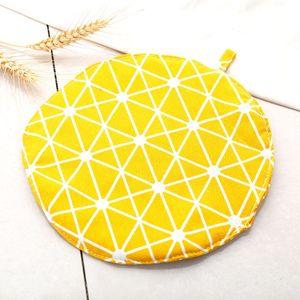 Yalıtım Pamuk Yuvarlak Masa Mat İçecek tencere tutacağı Altlıkları Mutfak Mat Hot Pot Yeri Mats İçin Pot Büyük Sofra Pad DH1222 T03 Anti-skid