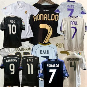 Retrò classico Real Madrid pullover di calcio ZIDANE 1997 1998 1999 2000 02 03 04 05 07 08 2010 2011 2012 2014 2015 16 17 camicia di calcio retrò