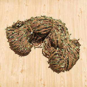 Willow Leaf twist rope Hair braid Vine handmade garland accessories simulation green leaf hair band headband accessories material