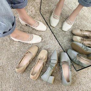 Scarpe Donna Kadınlar Kadın Kare Ayak Bale Annelik Loafers Ladies Kayma-on Kadın Bailarinas Shoes
