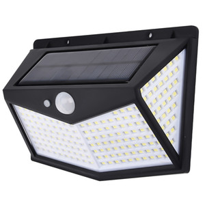 Solar Wall Light New Arrive Outdoor Garden Motion Sensor Detection Lamps 212 Led Landscape Street Light IPX6 Strong Waterproof
