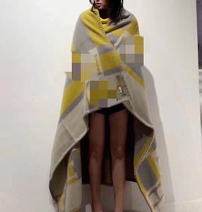 NOVO MELHOR Quailty Carta Amarelo H 90% lã Blanket Início Sofá-cama Big Size 140 * 180 centímetros boa quailty marca L cobertor