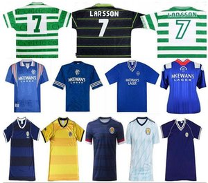 82 86 Scotland rétro maillot de football 2020 Scotland 90 92 94 96 97 Rangers Glasgow Retro Maillot 95 97 99 rétro celtique de football Chemise