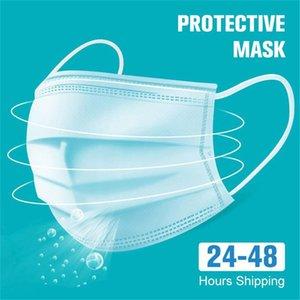 DHL быстрый корабль! Маски одноразовые Маски одноразовые 3 слоя пылезащитные маски для лица Маски Защитная крышка Набор Anti-Dust Mask Free Ship