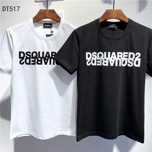 Dsquared2 dsq2  Camisetas SS20 New Arrival Top Quality D2 roupas masculinas Imprimir desgaste da rua camisetas de manga curta M-3XL Apuramento DT517