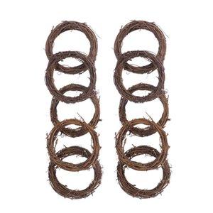 10 piezas de 8 cm sin terminar secas naturales ratán anillo American Country estilo de la guirnalda Decoraciones para el interior del partido Inicio DIY Decoración