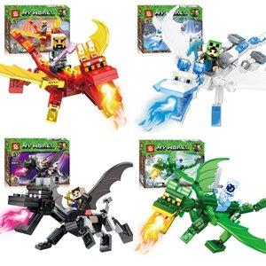 Bebé Juguetes Educación 12pzas dinosaurios Block Puzzle Ladrillos dinosaurios Figuras pequeños bloques de construcción Bloques de partículas ensambladas rompecabezas DIY juega # 955