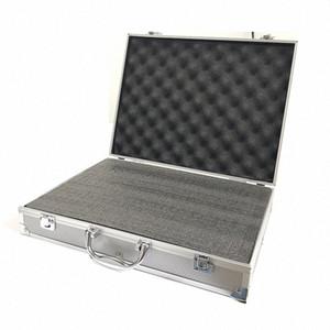 Equipamento de alumínio ferramenta Alloy Caso segurança ao ar livre Box Instrumento de segurança portátil Caso Mala portátil Tool Box 370x285x80mm Zale #