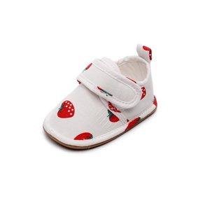Весна осень Новый хлопок Baby Frist ходунки Soft TPR Sole Младенческая малышей Первый ходунки Детская обувь