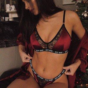 Sexy Pyjamas Lingerie Lace Bra Panties Underwear Sets Ladies Female Plus Size Lingerie Set Bras Briefs S-3XL CNY2210