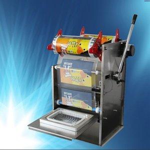 2020 Hand Press Square Box упаковочная машина из нержавеющей стали Электрический Полуавтоматическая Fast Food Ready Tray запайки