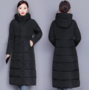 Hot Women's long slim warm winter jackets Hooded jacket coats Parka Fake down cotton padded coat Down Wadded Female outerwear