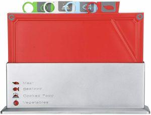 인덱스 도마 세트 - 식기 세척기 안전 비 - 슬립, 4의 도마 세트