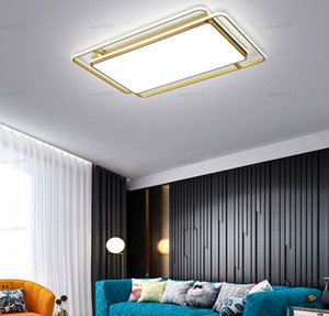 Moderno Simpe Acrílico LED Luces de techo Lámparas de candelabros para lustre Suspensión Sala de estar Comedor Dormitorio Home Deco Iluminación Accesorios