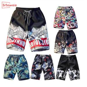 Pantalones SITEWEIE pantalones cortos para hombre verano de la playa corta Imprimir transpirable de secado rápido pone en cortocircuito para hombre de los troncos de nadada de verano G146