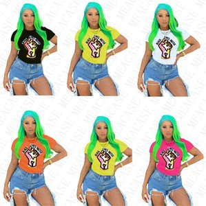 BLACK LIVES MATTER Women T-shirt Designer Cartoon Fashion Round Neck Tops Tees Short Sleeves Tshirt Plus Size T Shirt Clothing S-3XL D7805