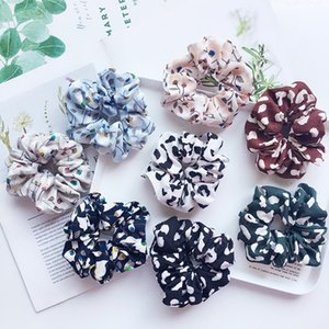 Fashion Printing Women Ladies Hair Tie Striped Lady Scrunchies Ponytail Hair Female Girl Holder Rope Hair Accessories