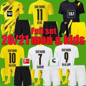 Borussia 2020 camisas de futebol 2021 Adulto homens crianças Dortmund Haaland kit 20 camisa REUS Witsel Paco Alcácer terceiro set futebol 21 PERIGO Götze