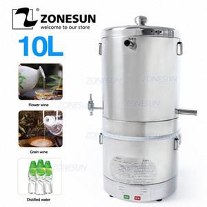 ZONESUN 10L Início fabricado destilador Vinho do destilador para Flower Grains Fruit Wine Álcool Início Making Machine Equipment jIG5 #