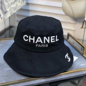 chapeau seau lettre en cuir de luxe de haute qualité lors du pliage des ventes encore chapeau de pare-soleil de plage de pêcheur noir pliant BB165 chapeau melon