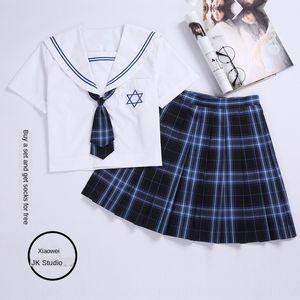 QQsvX Student JK girlfriends Student jk uniform girlfriend hand cloth high handwear l50 high school class uniform school uniformstyle Plaid