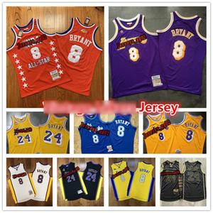 Erkek Gerileme Mor VintagenbaLosAngelesLakersKobeBryant Jersey 08-09 96 60 swingman Basketbol Formalar