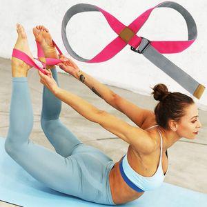 Yoga Adjustable Yoga Ballet Dance Stretching Belt Fitness Exercise Leg Bands D-Ring Belt Girls Latin Dance Nice Ass Strap