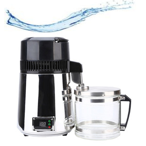 Filtro 4L 750W Household Água Pura Distiller elétrica Stainless Steel Purificador de Água Destilada Container de vidro máquina de água