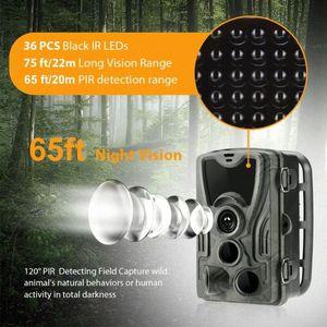HC-801A Photo Vidéo 1080P Scoutisme extérieur Mouvement Trigger forêt vision nocturne Chasse Caméra Jungle étanche suivi infrarouge 5JlH #