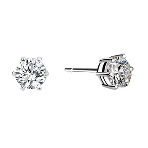 New arrival fashion CZ diamond stud earrings 18k gold plated white stone crystal jewelry earrings for Men and Women