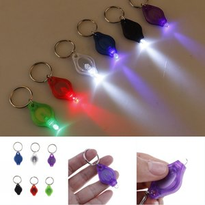 Mini LED Flashlight Keychain Portable Outdoor Keyring Light Torch Key Chain Emergency Camping Lamp Backpack Light