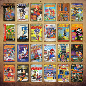 Japan Video Game Poster Wall Sticker Sega Gaming Gamer Wall Art Painting Plaque Room Decor