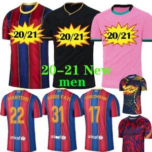 20 21 Soccer Jersey Ansu camisas de futebol FATI F.DE JONG 17 GRIEZMANN 2020 2021 COUTINHO SUAREZ MALCOM PIQUE VIDAL Bacelna