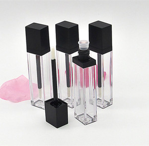 7ml Clear Square Plastic Lip Gloss Tubos Vacío Lipgloss Muestra Contenedor Cosmético Labial Esmalte Empaquetado Botella