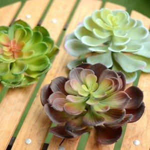1шт Искусственных растений Большого Моделирование сочных лотосов для использования дома и сад DIY украшения Фиктивного Succulent Искусственного