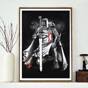 5D Характер Алмазные Картина Crusader Warrior DIY Алмазные вышивки крестом Kit Мозаика Домашнее украшение подарок