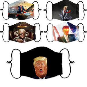 Face Mask Trump American Election Supplies Dustproof Print Mask Universal For Men And Women Washable Reusable Mask without filter DHB952