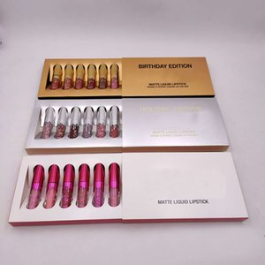 altın perakende ambalajı ile Kylie Jenner dudak parlatıcısı Kozmetik Mat Ruj Lip parlak Mini Leo Kiti Dudak Doğum Sınırlı Üretim