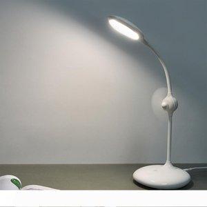Lámpara de mesa sensor de ojos Protect regulable LED recargable táctil Con el mini ventilador de lectura en el hogar Estudiar Trabajo luces LED