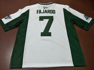 Uomo-Saskatchewan Roughrider Cody FAJARDO # 7 universitario Jersey completa ricamo o qualsiasi nome o numero di maglia