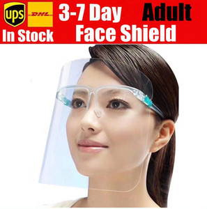 Máscara nueva careta de protección de la cara llena con la máscara transparente gafas anti fluidos del polvo anti salpicaduras Boca Cara protectora transparente