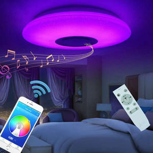 Music LED Ceiling Lamp with Bluetooth Speaker,Dimmable, Multicolor,APP Control & Remote Controller,60W Smart Ceiling Light(Bluetooth Speaker