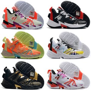 2020 Shoes Russell Westbrook III 3.0 Why Not Zero.3 Elite Mens Basketball Black Rainbow Leopard Grain Jumpman Sports Sneakers Tamanho 40-46