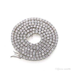 Iced Out Цепи Хип-хоп ювелирных мужчины Полного Алмазного ожерелья Micro Цирконий Copper Set Diamond Necklace Хлеб площадь Diamon