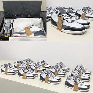 2020 neue KAWS x 3 3s Art und Weise bemannt Schuhe hochwertige Männer Basketball-Schuh-Designer Turnschuhe mit Kasten Größe 40-47