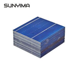 저렴한 세포 SUNYIMA 100PCS 0.5V 0.46W 패널 52 개 * 52mm 미니 태양 전지 DIY 다결정 태양 광 모듈 DIY 태양 전지 충전기
