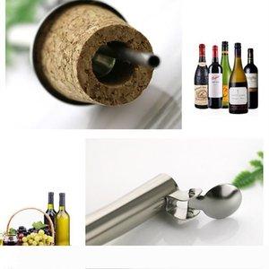 hot Wooden Cork Red wine Stoppers Pourer Oil Champagne Beer Bottle Stopper Plug Wine-tasting Tools Pourers Wedding Birthday BarwareT2I5439