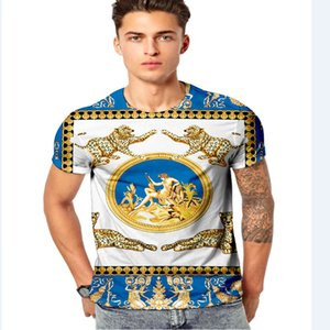 Fashion Design Men's T-Shirts Tide Apparel Europe and The United States The World's High-quality Printing Is Very Perfect Head There