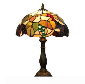 30 centimetri floreale Tiffany lampada da tavolo di vetro macchiato tavolo luminoso Camera studyroom Lampada da comodino Tiffany Desk Lamp