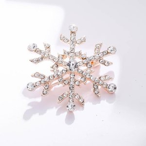 Lady Fashion Rhinestones alloy Brooch Large Snowflake Pins Wedding Party Jewelry Women Gift